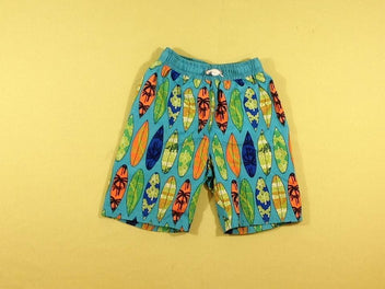 Maillot short bleu surfs