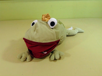 Peluche grenouille prince