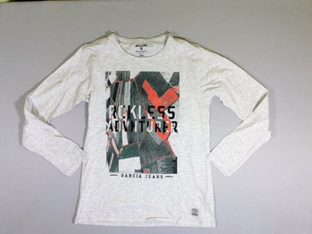 T-shirt m.l. gris clair flammé RCKLESS ADVNTURER