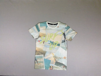 T-shirt m.c. SURF'S UP photos couleurs pastels