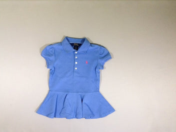 Robe polo bleu