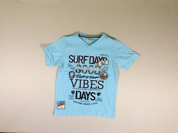 T-shirt m.c. col V bleu SURF DAYS
