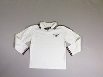 Polo m.l jersey blanc Rowing