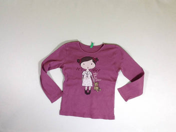 T-shirt m.l mauve fille it's nice