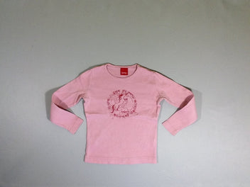 T-shirt m.l rose cheval