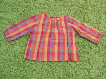 DPAM blouse m.l carreaux orange/fushia/jaune, 67
