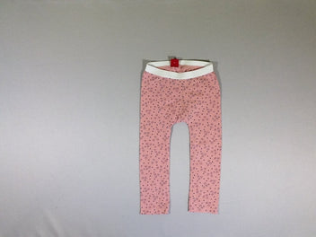 Legging rose motifs triangles, pois