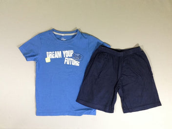 Pyjashort jersey 2pcs m.c  bleu dream