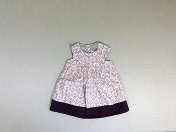 Robe s.m gris/mauve fruits