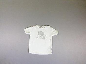 T-shirt m.c. blanc cassé Little miracle of love