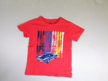 T-shirt m.c rouge flammé auto