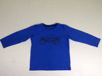 T-shirt m.l bleu monster truck