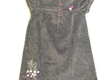 Robe m.c velours ras aubergine Minnie