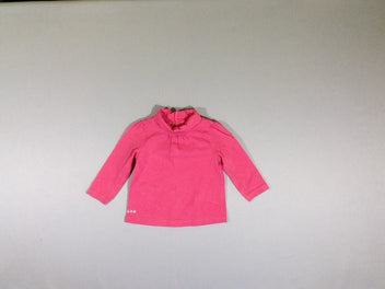 T-shirt col roulé rose