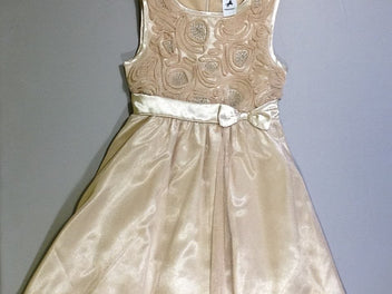 Robe s.m tulle doré noeud