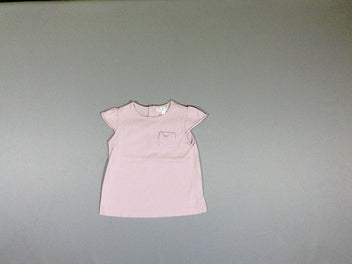 T-shirt m.c rose poche noeud