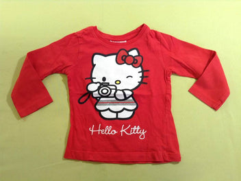 T-shirt m.l rouge Hello Kitty