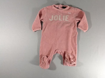 Pyjama velours rose « Jolie »