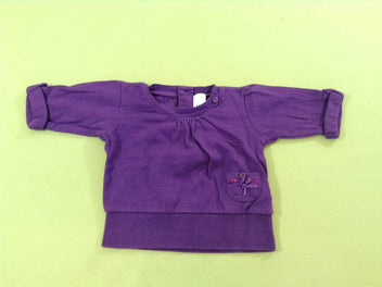 Pull manches 3/4 mauve
