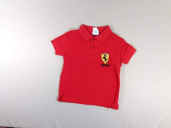 Polo m.c rouge ferrari