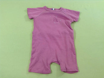 Combishort jersey rose ourson
