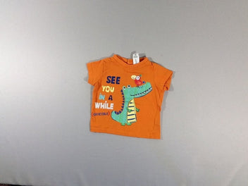 T-shirt m.c orange crocodile