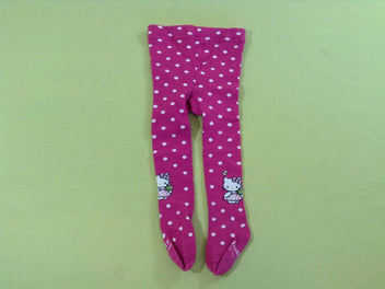 Paire de collants fushia pois Hello Kitty