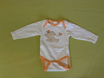 Body m.l blanc orange ours papillons