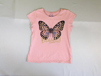 T-shirt m.c rose papillon