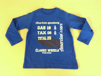 T-shirt m.l bleu Gas tax total