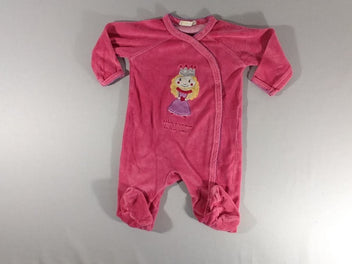 Pyjama velours rose princesse