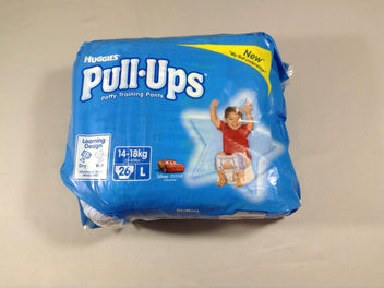 NEUF paquet de 25 Huggies Pull-Ups Cars, taille L (14-18kg)