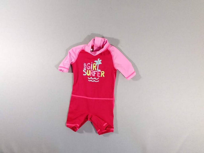 Combishort rose Baby girl, moins cher chez Petit Kiwi