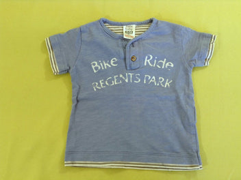 T-shirt m.c bleu flammé Bike Ride