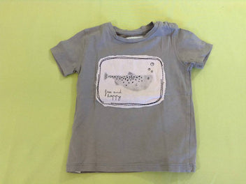 T-shirt m.c gris poisson bocal, Mango