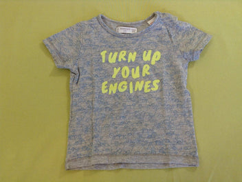 T-shirt m.c gris chiné auto Turn up, Mango