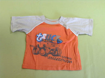 T-shirt m.c beige/orange Truck