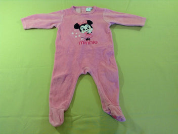 Pyjama velours rose Minnie