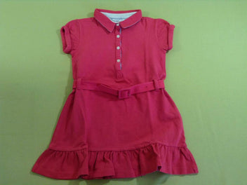 Robe polo m.c rose vif
