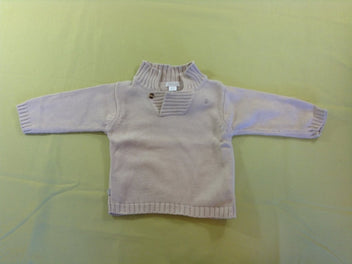 Pull beige col