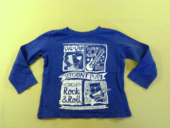 T-shirt m.l bleu « The Sergent Pups - Rock&Roll »