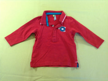 Polo m.l jersey rouge