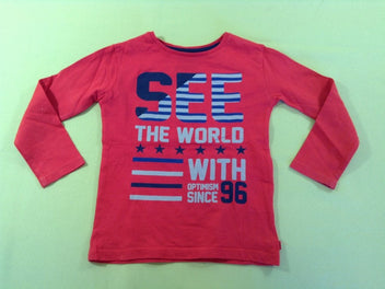 T-shirt m.l rouge See the world