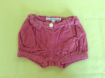 Short velours côtelé rose