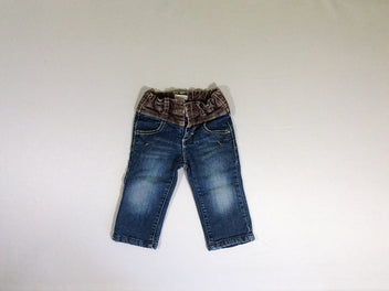 Jeans taille brun