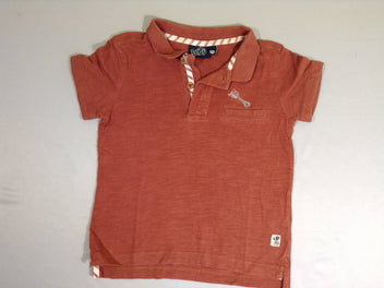 Polo jersey m.c terracotta