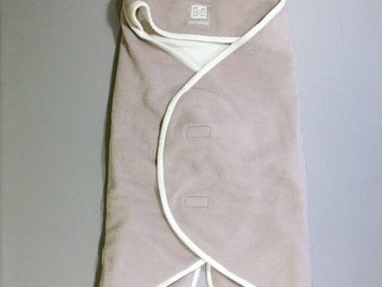 Couverture Baby Nomade polaire beige/blanc
