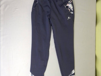 Pantalon training flammé gris/blanc