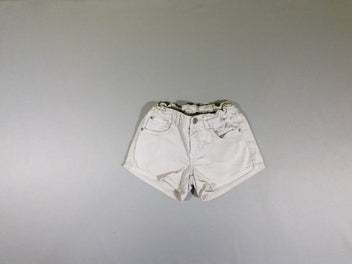 Short jeans rose clair