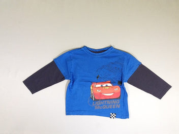 T-shirt m.l bleu cars